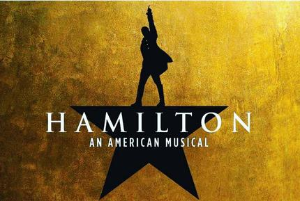 Hamilton promotional musical poster