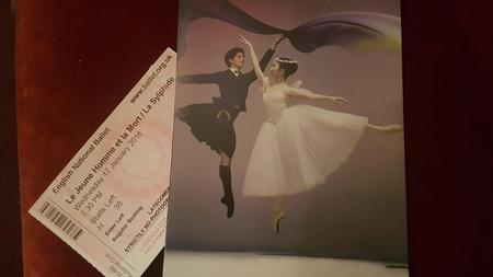 Program and ticket for ballet at the London Coliseum