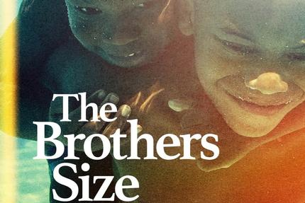 poster for the brothers size theatre show